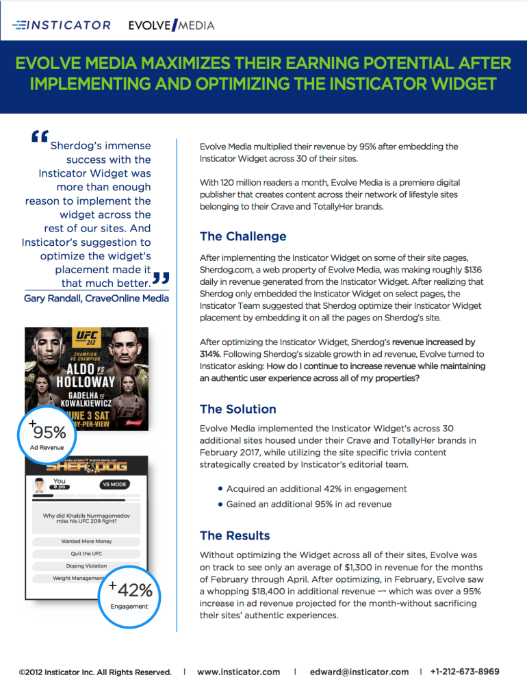 Evolve Media Case Study