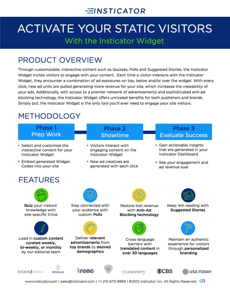 Insticator One Sheet